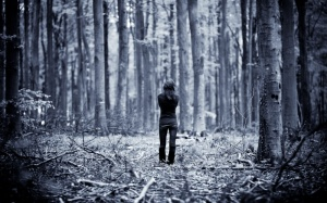 lonely-girl-in-woods