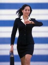 Businesswoman Rushing